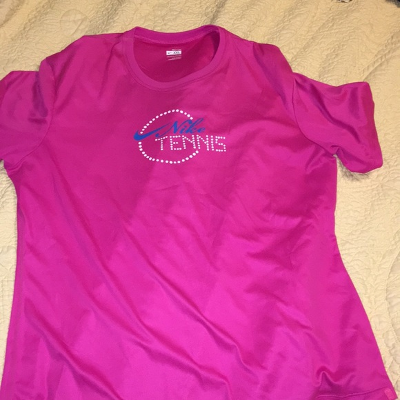 de0ff09f Nike Tops | Womens Tennis Top Pink White And Blue Xxl | Poshmark
